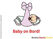 Baby on Board Aufkleber selbst machen