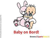 Baby on Board Bild, Cartoon, Cliparts