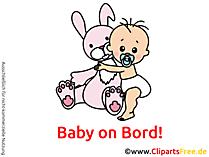 赤ちゃんオンボード画像、漫画、クリップアート