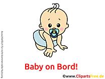 赤ちゃんオンボードクリップアート、写真、漫画