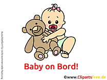 Baby on Board Clipart, Cartoon, Image