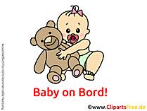 赤ちゃんオンボードクリップアート、漫画、画像