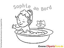 Baby on Board Sticker selbst machen