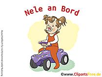 Baby on bord aufkleber selbt gestalten mit unseren Cliparts