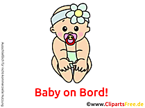 Baby on Bord Bild, Grafik, Clipart