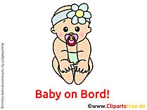 赤ちゃんオンボード画像、グラフィック、クリップアート