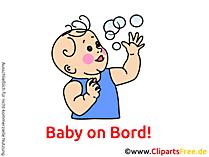赤ちゃんオンボードクリップアート