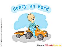 Babyaufkleber Auto selbt gestalten mit unseren Cliparts