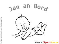 Babyaufkleber mit Namen fuers Auto