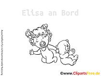 Babyaufkleber mit Wunschnamen selbst gestalten mit unseren Cliparts