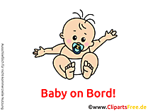 Babyaufkleber selbst gestaslten mit unseren Cliparts
