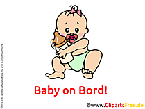 Clipart Baby on Board