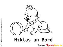 Die suessen Babyaufkleber selbst gestalten mit unseren Cliparts