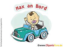 Individuelle Autoaufkleber Baby selbst gestalten