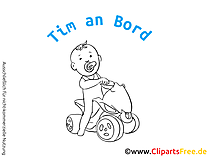 Kindernamen auf dem Auto selbst gestalten mit unseren Cliparts
