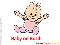 Lachendes Baby Bild, Clipart, Grafik