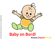 Lustiges Baby Bild, Cartoon, Grafik, Clipart