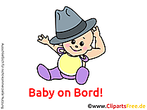 Lustiges Baby lacht Clipart, Bild, Cartoon, Grafik