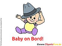 面白い赤ちゃん笑うクリップアート、イメージ、漫画、アートワーク