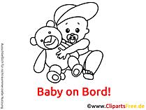 黒と白の漫画赤ちゃんボード
