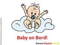 Sticker selbst gestalten Baby on Bord mit unseren Cliparts
