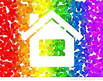 Clip Art Rainbow Home