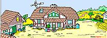 Ilustrasi kartun pertanian