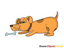 Cartoon Hund Clipart, Grafik, Illustration, Bild gratis
