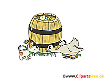 Barrel Farm Clipart, obraz, kreskówka