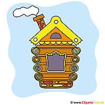 Haus aus Holz Bild Clipart kostenlos