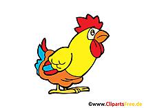 Tavuk resmi, çizgi film, çizgi roman, küçük resim, ücretsiz grafik