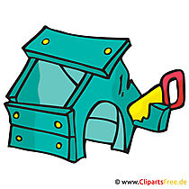 Hundehütte Clipart, Bild, Cartoon, Grafik, Illustration