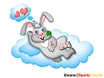 Kaninchen, Liebe Clipart, Grafik, Illustration, Bild