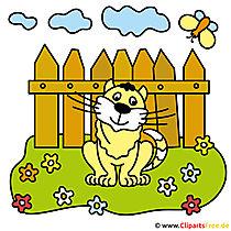 Katze Clipart Bauernhof gratis