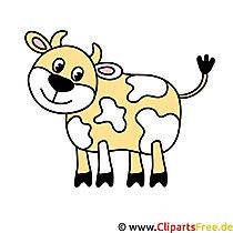 Kuh Cartoon Bild kostenlos