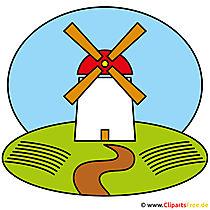 Mühle Cartoon Clipart kostenlos