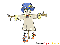 Obraz stracha na wróble, Cartoon, Free Clipart