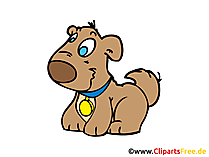 Welpe Clipart, Bild, Comic, Cartoon gratis