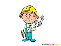 Architect afbeelding, cartoon, clipart gratis