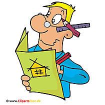 Architektor, Clipart, Bild, Cartoon kostenlos