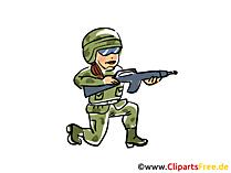 Clip Art Soldat download kostenlos