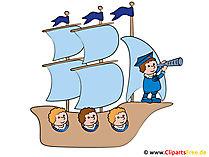Clipart-Bild Segelschiff