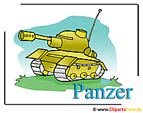 Panzer Cartoon Clipart free - Armee Bilder kostenlos