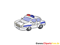 Polizeiauto Illustration, Clip Art, Grafik