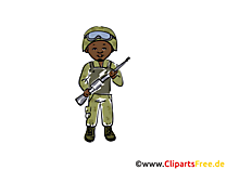 Soldat Clip Art-Illustration