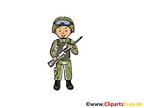兵士のクリップアートやイラスト