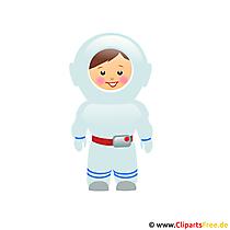 Astronaut afbeelding clipart gratis