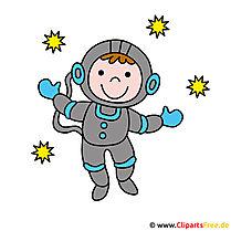 Kosmonaut Clipart afbeelding - beroepen beelden