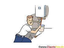 Anlagenmechaniker Clipart, Bild, Grafik