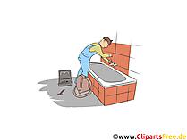 Anlagenmechaniker Sanitär- Heizungs- und Klimatechnik Clipart, Bild, Grafik